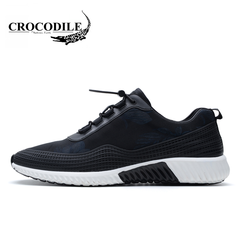 Crocodile Original Men New Running Shoes 2018 Jogging Breathable Male Sneakers Outdoors Flat Sport Shoes Men's Sport Shoes crocodile original 2018 new men walking shoes male leather working shoes running jogging sneaker for men s flat sport shoes