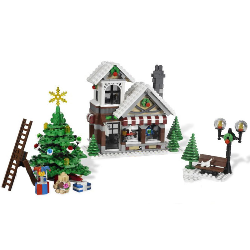 Lepin 36002 Genuine 1005Pcs Creative Series The Winter Toy Shop Set Building Blocks Bricks Toys For Children With legoed Gifts lepin 36002 1005pcs street view series winter toy store christmas model building blocks set bricks toys for children gift 10249