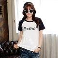 EMC2  Printed Black White Raglan Sleeve Women T-shirt Swag Clothes Cool Tshirts Japanese Harajuku Mori Top Tee