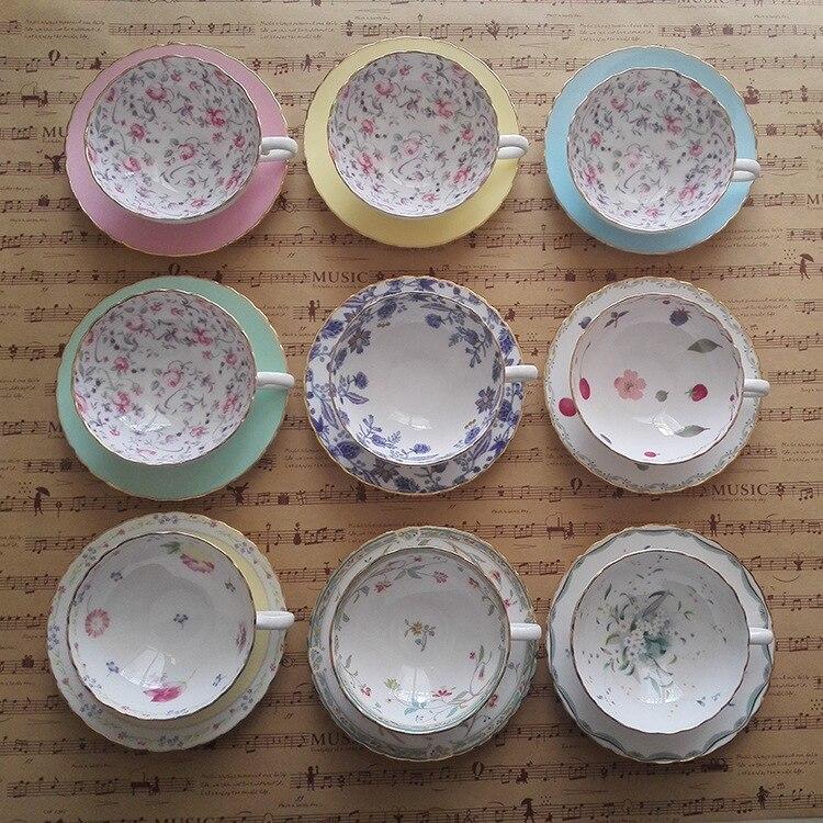 Taza de café de porcelana de ceniza de hueso de estilo europeo, tazas de té de tarde de alta calidad, juego de té de cerámica creativo de 160ML