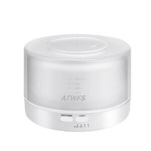 Image 4 - ATWFS التحكم عن بعد بالموجات فوق الصوتية زيت طبيعي معطر الهواء المرطب ناشر رائحة مبيد 7 لون LED الروائح ضباب صانع