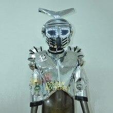 LED Robot Costume Luminous Suit LED Dance Men Show Halloween Mardi Gras Carnival science fiction movie Robot Light Costumes