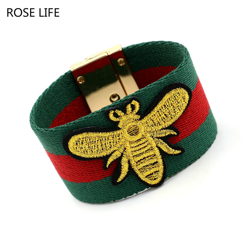 Complex cotton belt bee fashion women bracelet Europe and the United States exaggerated wild personality cloth fabric bracelet