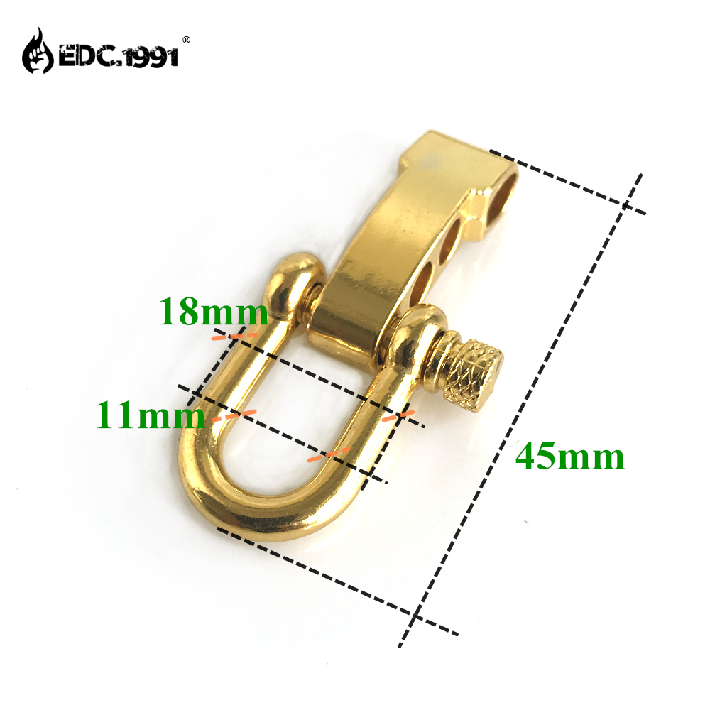 EDC 10PCS U Shape Outdoor Camping Survival Rope Paracord Bracelet Buckles Adjustable Zinc alloy Anchor Shackle in Outdoor Tools from Sports Entertainment