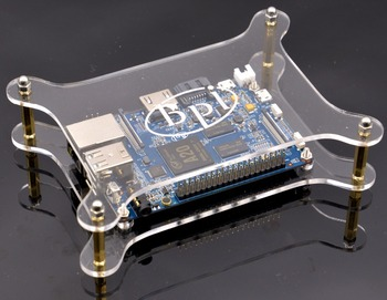Newest Good quality Single Acrylic clear case/Box compatible with Banana Pi M1,M1+,M2,M3 Board
