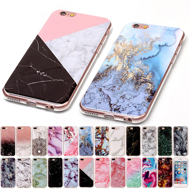 77c57c03ba4 For iPod touch 5 6 Marble Soft TPU IMD Silicone Cover Case For iPhone 4 4S 5  5C 5S SE SE2 6 6S 7 8 Plus Fundas Coque Bags B02