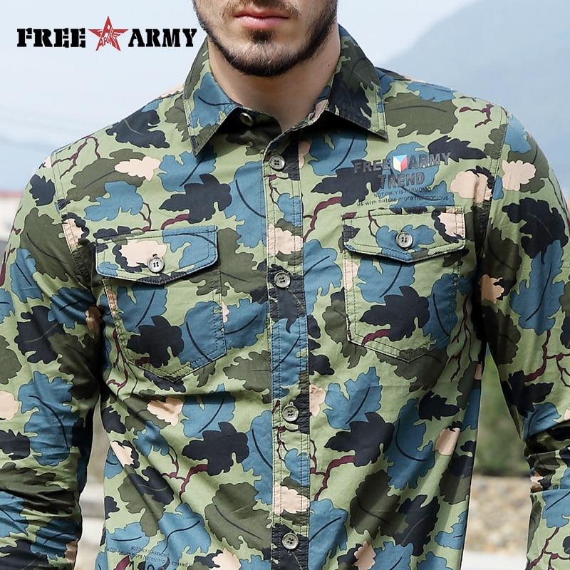 화려한 봄 셔츠 패션 캐쥬얼 브랜드 남성 의류 긴 - 남성 의류 - 사진 6