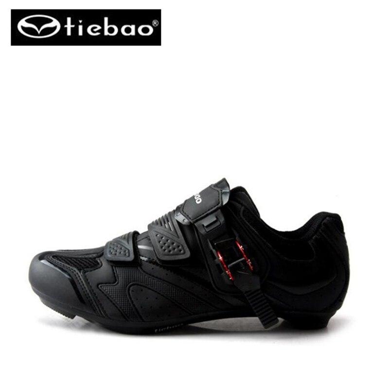 Tiebao Новинка 2017 года Марка Открытый Профессиональный road racing Вело-обувь автоблокировке/selflock Спортивное велосипед Велосипеды Обувь