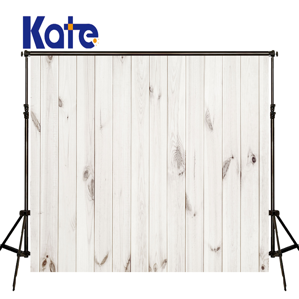 KATE Photography Background White Wood Backdrop Solid Newborn Backdrops Vintage Wood Background Portrait Photo US Delivery