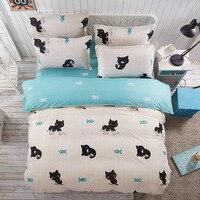 Cartoon Animal Series Kids Bedding Sets Single Twin Queen Size for Children Baby Duvet Cover Pillowcase Set Comforter Bed Linen