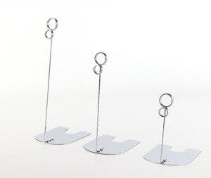 Image 5 - 50 pcs 높이 5/10/15 cm 골드 은빛 검은 음식 가게 팝 금속 책상 기호 클립 가격 태그 이름 카드 클립 레이블 홀더 스탠드 클램프