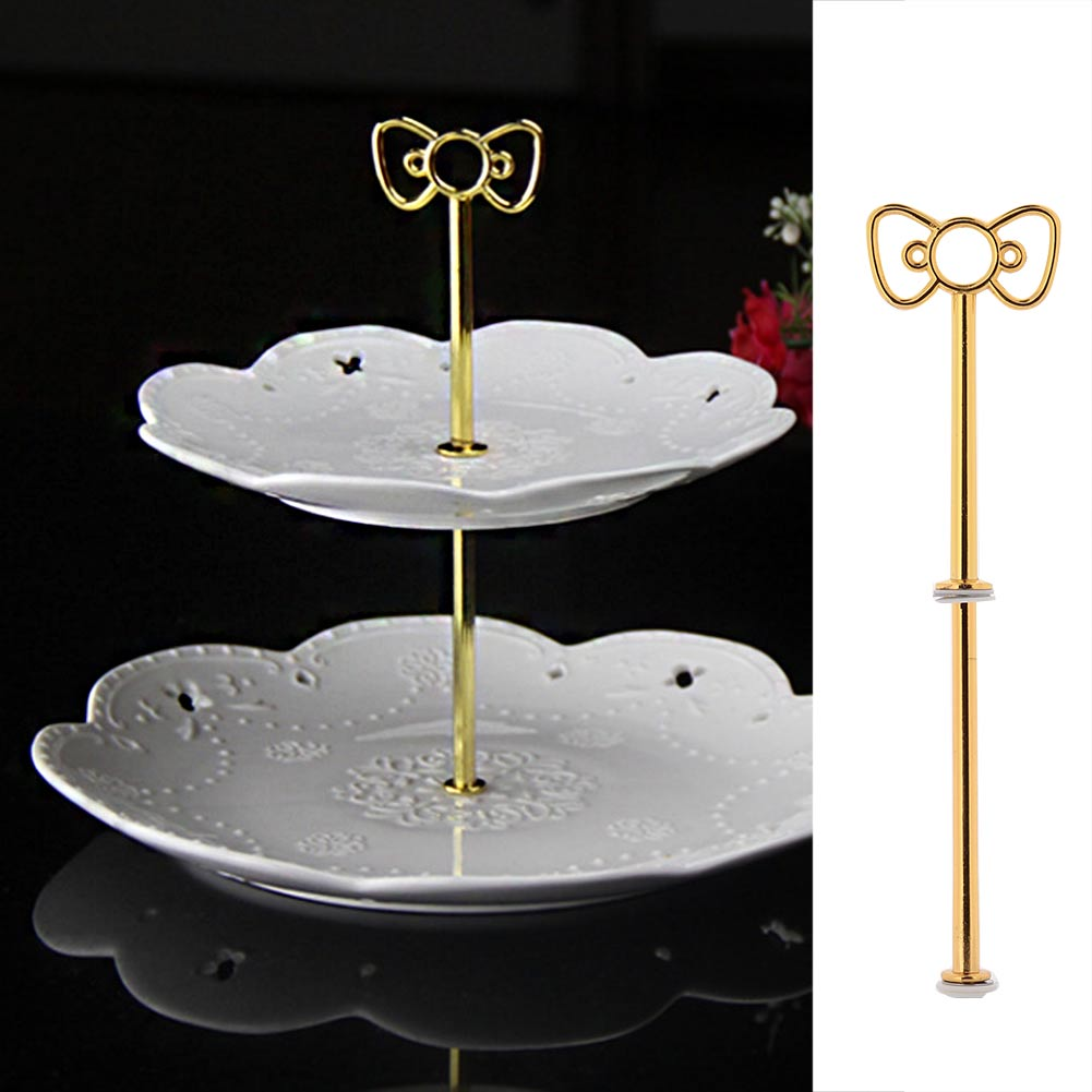 SOLEDI Bow Cake Plate Stand Desserts <font><b>Cheese</b></font> Candy Display Rack <font><b>Holder</b></font> Birthday Party Supplies Accessories image