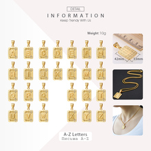 Initial A-Z Letter Pendant Charm Gold Silver Capital Letter Pendant Chain Necklace For Women Men Wholesale Jewelry GPM05A