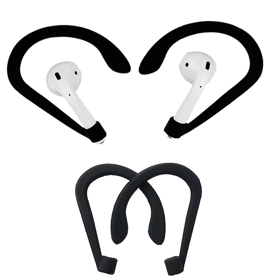 Support de casque de protection pour Apple Airpods Accessoires pour écouteurs sans fil Silicone Sports Anti-perte d'oreille Crochet