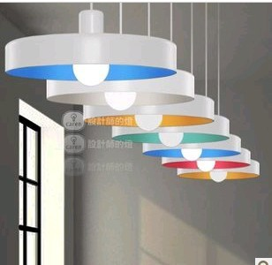 1Pc Famous 36cm rainbows Color Dick E27 pendent light lamp lighting bedroom pub dining room
