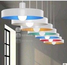 1 Шт. Известные 36 см радуги Цвет Дик E27 кулон свет лампы освещение спальни паб столовая