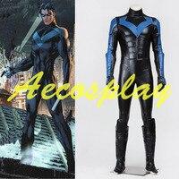 Костюмы на Хэллоуин для взрослых мужчин супергерой Batman Arkham City Nightwing костюм Косплэй Бэтмен Nightwing Косплэй костюм