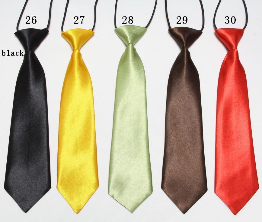 Solid Baby Neck Tie For Kids Children's Neckwear