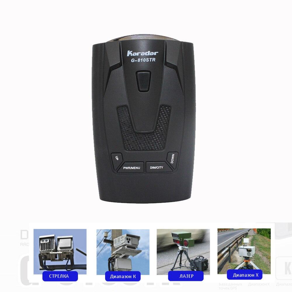 KARADAR 2018 LED GPS Radarwarner Anti Radar Auto Radarwarner Strelka X K Laser CT Russische Stimme Ublox 7 gps-empfänger