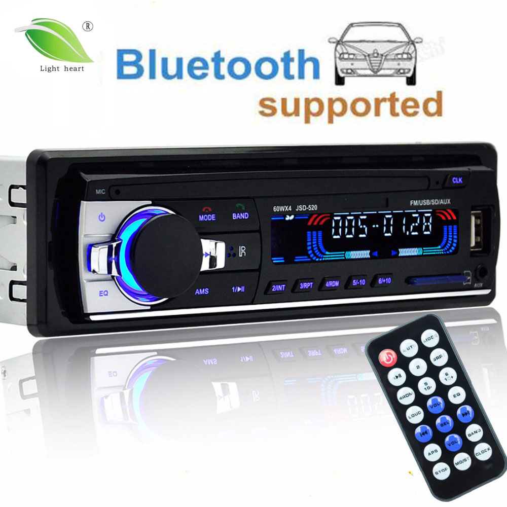 Autoradio 12 V Telefone Do Bluetooth Rádio Do Carro 1 din Jogador som do carro AUX-IN MP3 FM/USB/radio remote controle De Áudio Do Carro Do telefone