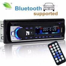 Авторадио 12 В автомобиля Радио Bluetooth 1 DIN стерео плеер телефон AUX-IN MP3 FM/USB/Радио пульт дистанционного управления для телефона Аудиомагнитолы автомобильные