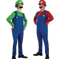 Envío gratis caliente Adult de Halloween masquerade disfraces cosplay ropa Mario Super Mario Louis disfraces de Halloween para adultos etapa