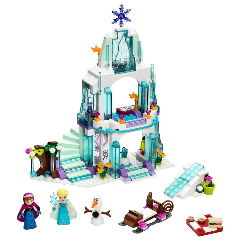 Snow Queen Princess Elsa's Sparkling Ice Castle Anna Set Model Building Blocks Bricks Gifts Toys Compatible with Legoe Friends jg303 building blocks arendelle castle princess anna elsa buildable snow queen figures sy371 with blocks kids toys gift page 8