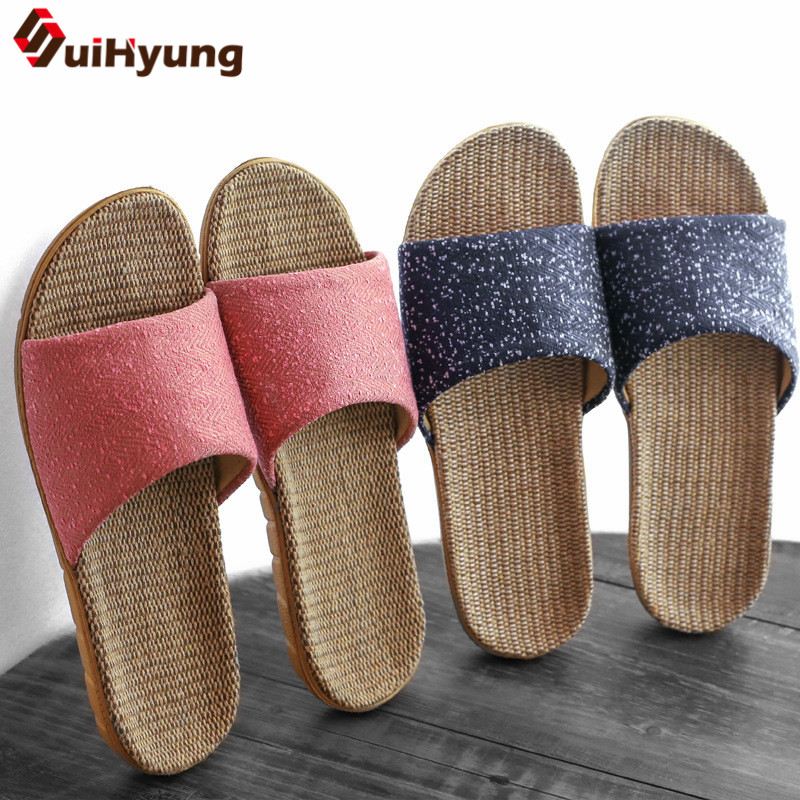 Suihyung Women Indoor Slippers 2019 New Summer Breathable Linen Platform Slippers Home Casual Slides Non-slip Flax Flip FlopsSuihyung Women Indoor Slippers 2019 New Summer Breathable Linen Platform Slippers Home Casual Slides Non-slip Flax Flip Flops