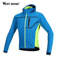 WEST BIKING Ropa Ciclismo Warm   Cycling   Clothes Windproof Thermal Fleece Outdoor Sport Hooded Jacket Bike Bicycle   Cycling     Jersey