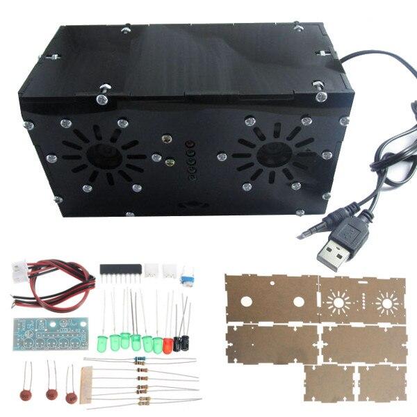 DIY Power Amplifier Kit KA2284 Level Indicator Module BTL USB Power Supply Audio Speaker jf 0718m diy replacement speaker parts stereo audio amplifier module green white black