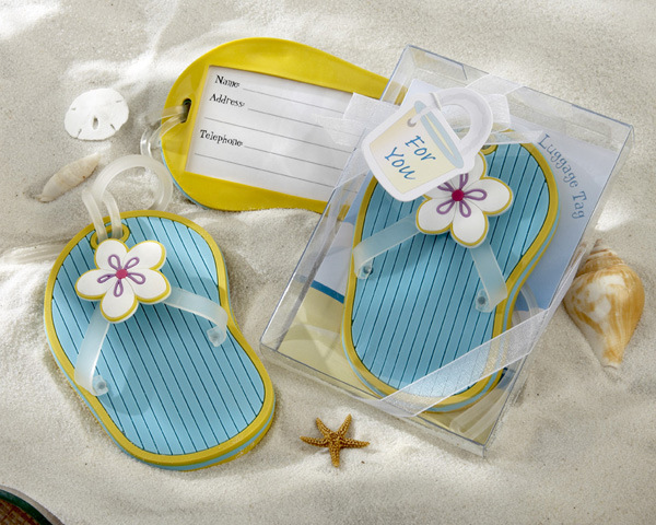 aa77adbcd76b2 free shipping beach theme rubber flip flop luggage tag favors and gifts for  wedding