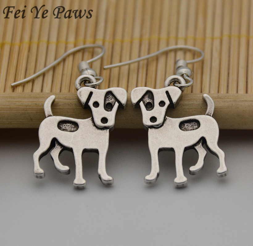 New Vintage Hippie Jack Russell Terrier Brincos Boho Dog Love Long Earrings Pendientes Mujer Jewelry For Women Best Friends Gift