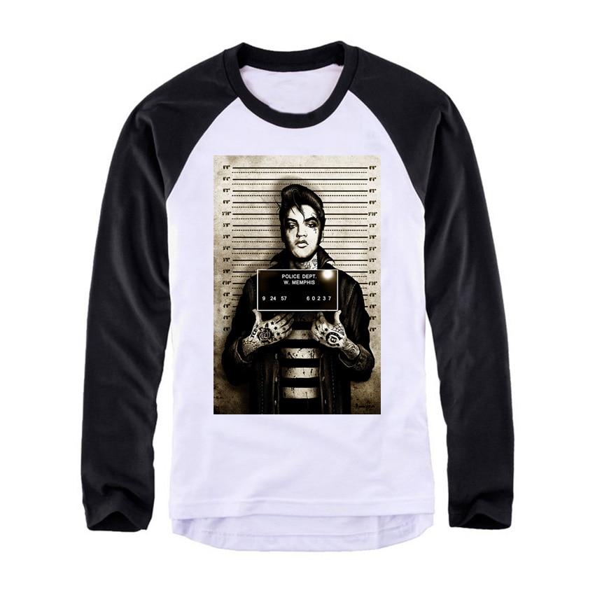 special design emo punk elvis Vintage fashion men women size raglan full sleeves long sleeves t shirt