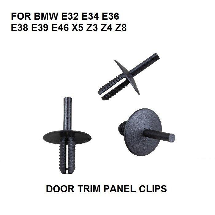 Tarjeta De Puerta Interior BMW x10 panel recorte Clips E34 E36 E38 E39 E46