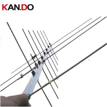 Antena de satélite de radio amateur Antena de radioaficionado antena UV yagi 430-440 143-146MHZ 15dbi repetidor para aficionados Antena de ganancia de radio bidireccional
