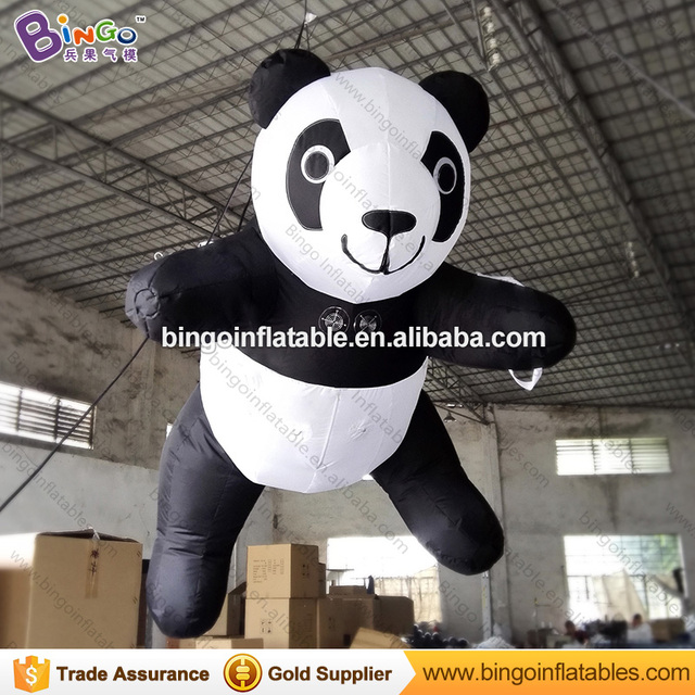 Perfect Customized Decorative 3 Meters Big Inflatable Hanging Panda Inflatable Toy