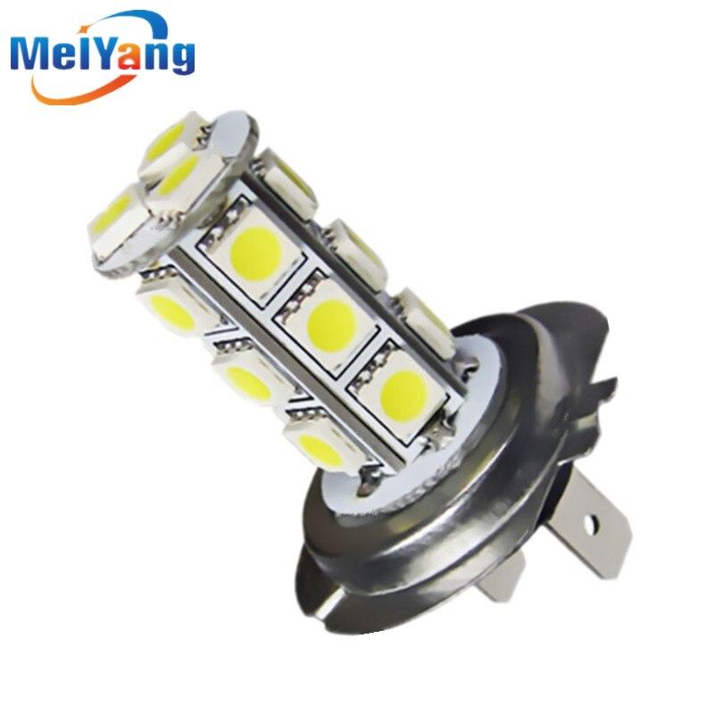 H7 18 SMD 5050 White Fog Tail Signal LED Car Light Bulb Lamp Auto car led bulbs Car Light Source 12V 6000K Parking мышь беспроводная genius micro traveler 9000r v3 синий чёрный usb