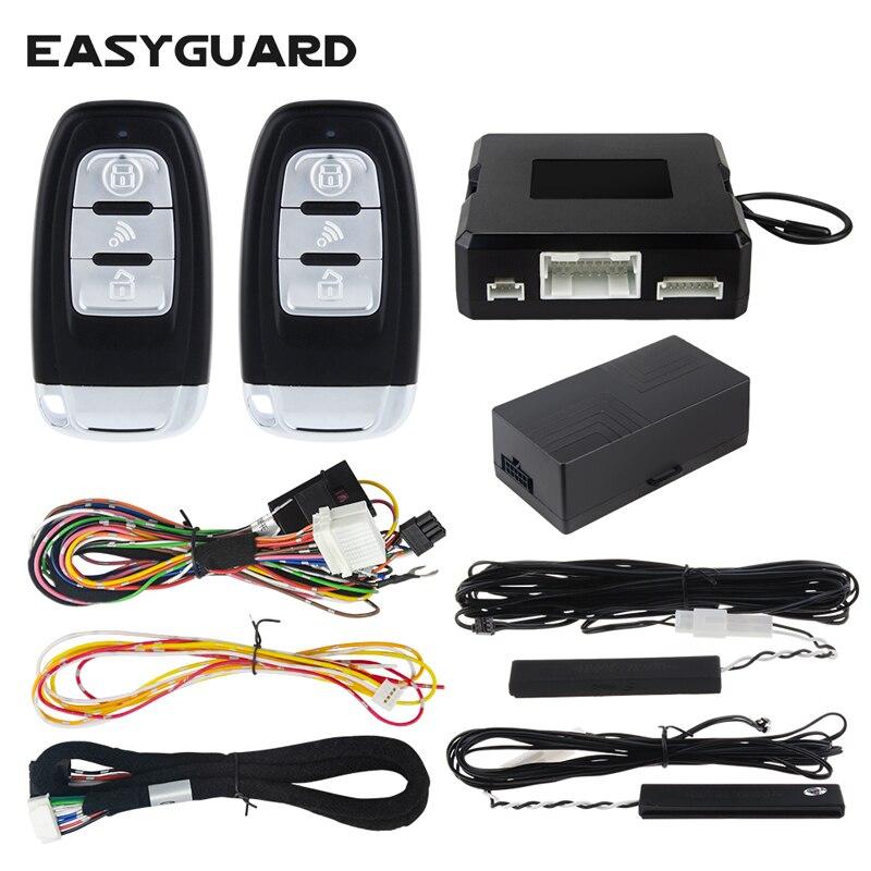 EASYGUARD pke alarme de voiture démarrage à distance arrêt compatible avec usine OEM bouton de démarrage par pression alarme de sécurité entrée sans clé