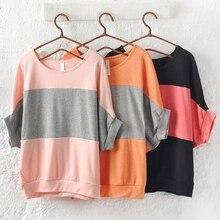 Hot Women's Bat Short Sleeve Loose Black Orange Pink  Blouse Tank Loose Top Shirt Retail/Wholesale  5LSU 6KW1 7FKZ