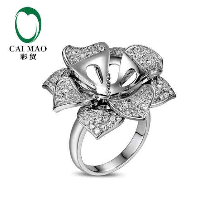 caimao pearl cut semi mount ring settings diamond. Black Bedroom Furniture Sets. Home Design Ideas