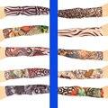 1 pc multi-cores fibra Superfina elástico manga tatuagem temporária Falso projetos corpo meias Braço tatoo para homens frescos mulheres Venda