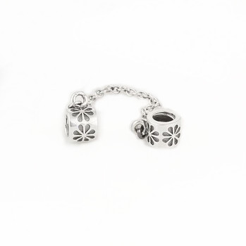 Couqcy fashion Silver Color Screw Hole Safety Snake Chain Charm Beads - Bisutería - foto 3