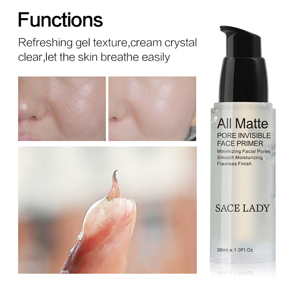 SACE LADY Face Base Primer Makeup Liquid Matte Fine Lines Oil-control Facial Brighten Foundation OR88