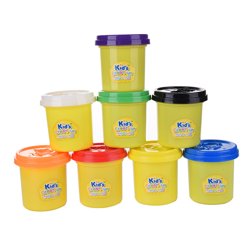 Non-toxic Wheatmeal Play Dough Plasticine Set 8 * Colored Kids Doughy Plasticine DIY Tool Molds Children Educational Toy Gift playdough clay dough ice cream mould play kit educational play doh plasticine diy toy