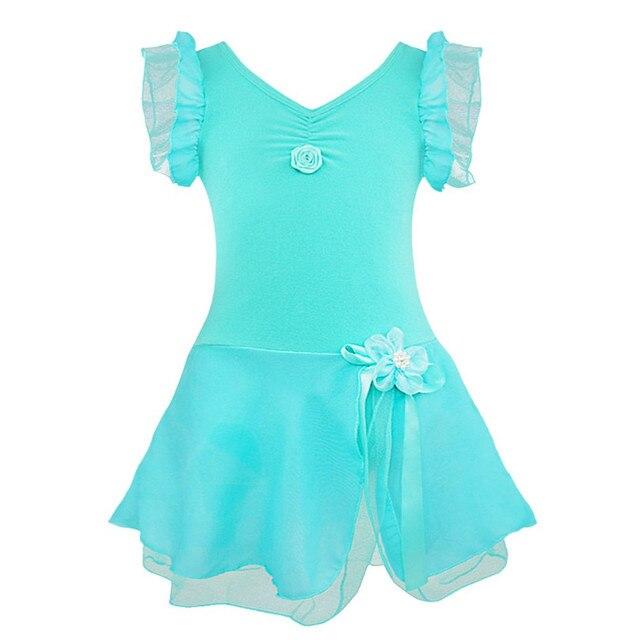 Дети балета dress девушки гимнастика купальник балетная пачка dress костюм с коротким рукавом юбка ребенок балета dance dress girls dress танец