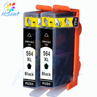 New Compatible Inkjet 2pcs Black Ink Cartridge For Hp564XL For Hp564 564XL 564 XL C5380 C6375