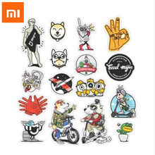 Xiaomi Mijia stickers 16pcs/set Creative Cartoon mijia Rabbit PVC DIY Decor Stickers For Laptop Phones lovely gift H15(China)