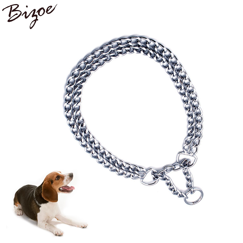 Dog Choke Collar Solid Metal Training Stainless Steel Chain Pet Supplies Covered with Galvanic Plating Size XS S M Large Pitbull