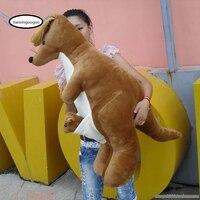 47'' Giant Plush Kangaroo Stuffed Soft Animal Toy Kangaroo Monther Baby Toy Gift