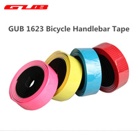 GUB Road Bicycle Handlebar Tape Double Colors Mixed Color Comfort GEL Road EVA PU Bike Tape with Reflective Bar Plugs 2100mm